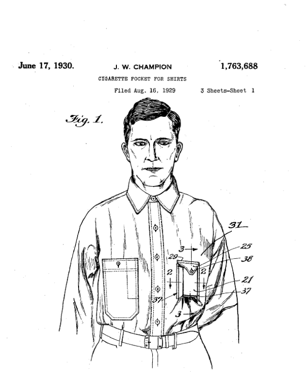 Patented shirt pocket