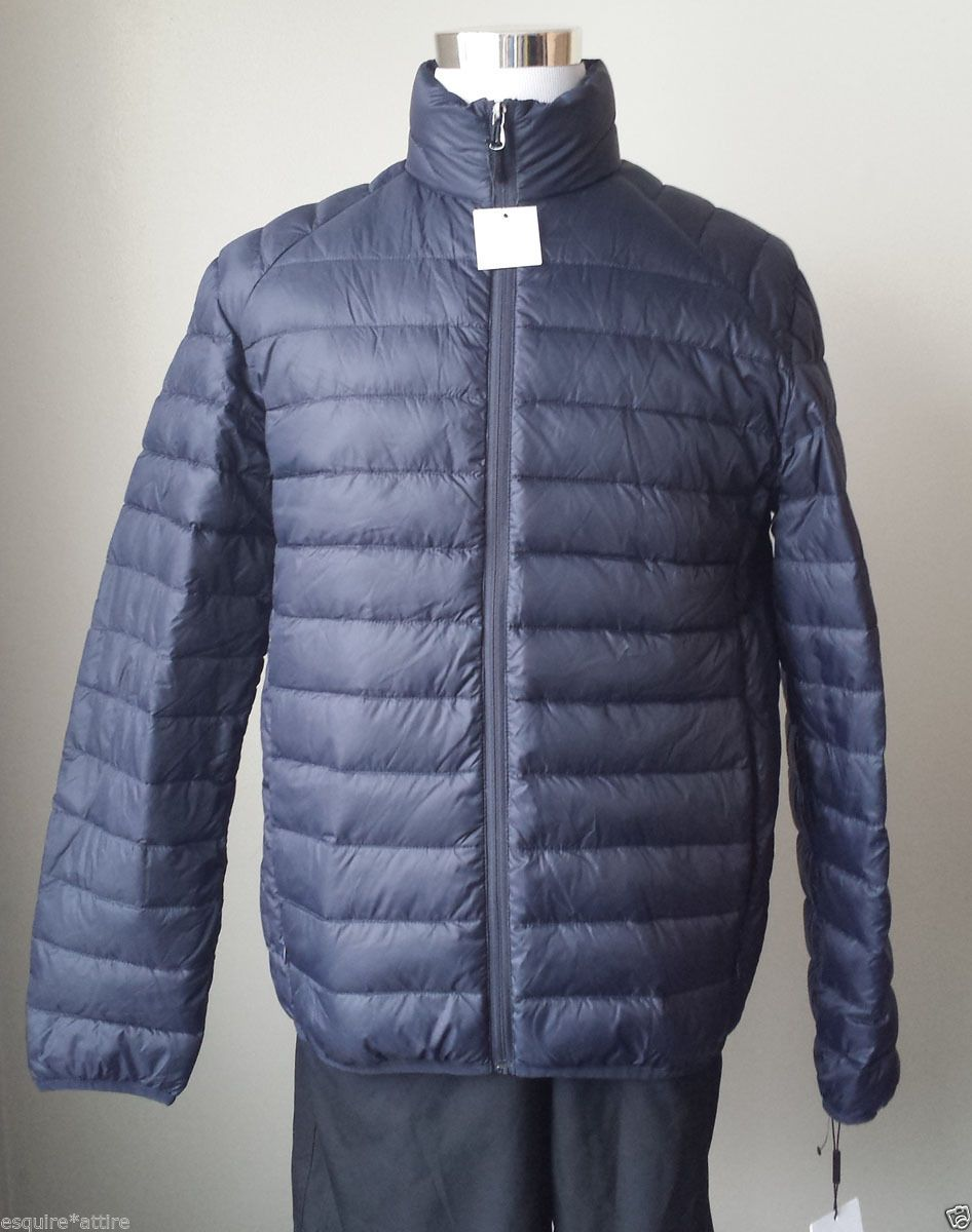 Calvin Klein Men Size M Blue Puffer Jacket Full Zip Packable Nwt Blue Puffer Jacket Calvin Klein Men Down Puffer Coat [ 1200 x 946 Pixel ]