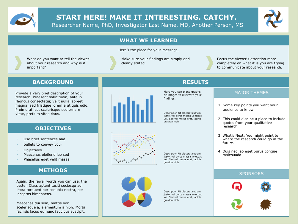 Scientific research poster template google search for Eposter template