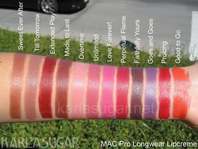 pro longwear mac lipstick