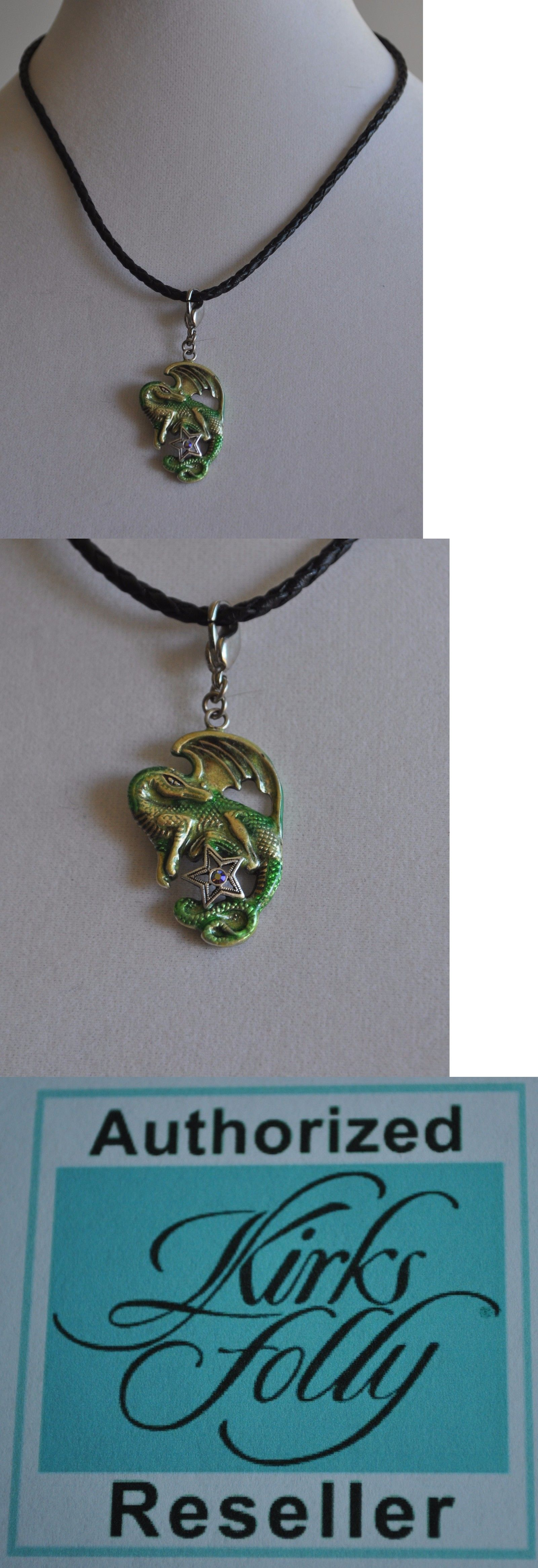 Other Fashion Jewelry 499: Kirks Folly Dragon Pendant Necklace In Silver Tone -> BUY IT NOW ONLY: $31.99 on eBay!