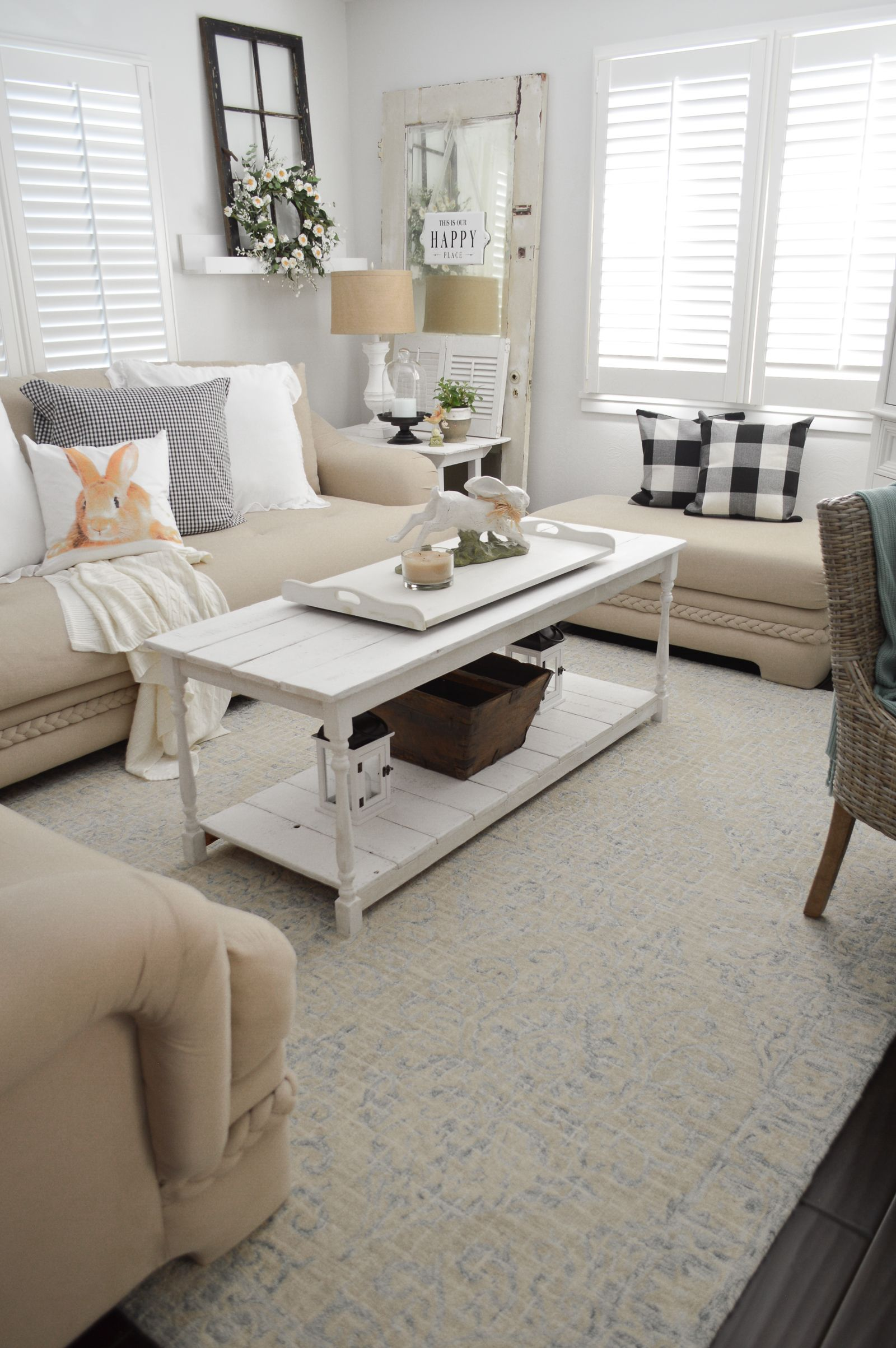 Casual Spring Decorating Cottage Living Room Tour Living Room
