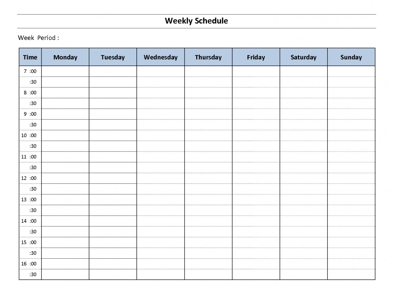 Weekly Calendar With Hours Template Calendar Templates News To Gow