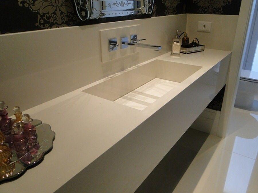 Pia esculpida em branco prime cristal  Banheiros e Lavabos  Pinterest -> Pia De Banheiro Esculpida