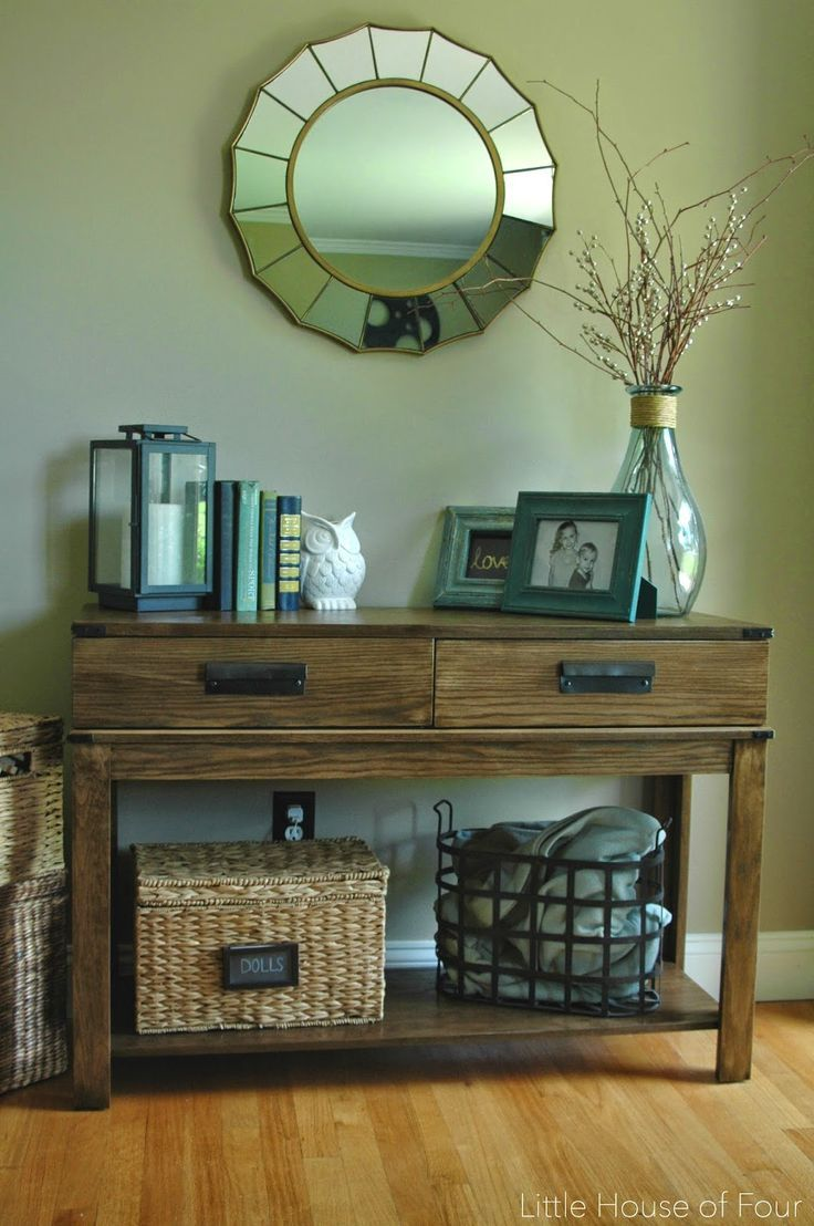 How To Decorate A Sofa Table Ashley Furniture Home Office Check - Ashley furniture hall table