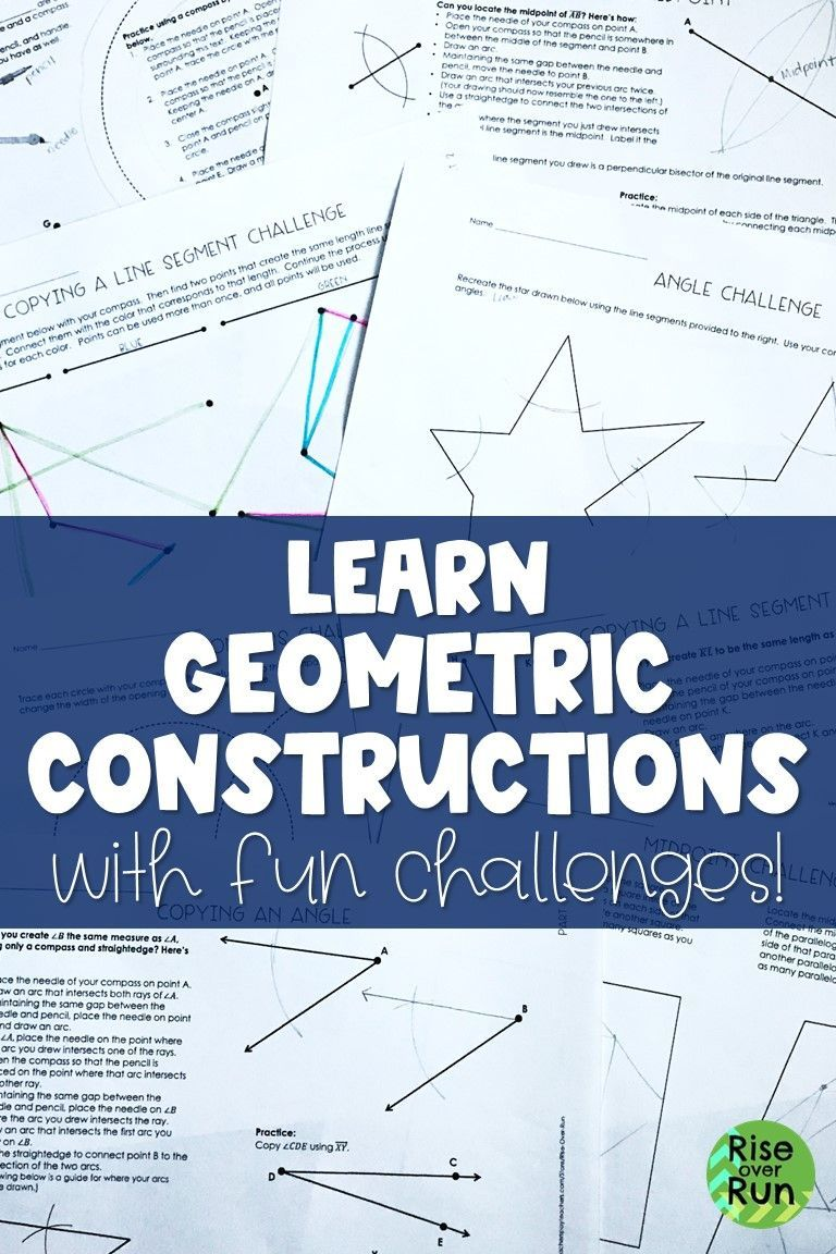 Make Constructions Fun Introduce Students To Basic Constructions With This Set Of Lessons Geometry Activities High School Teaching Geometry Geometry Lessons