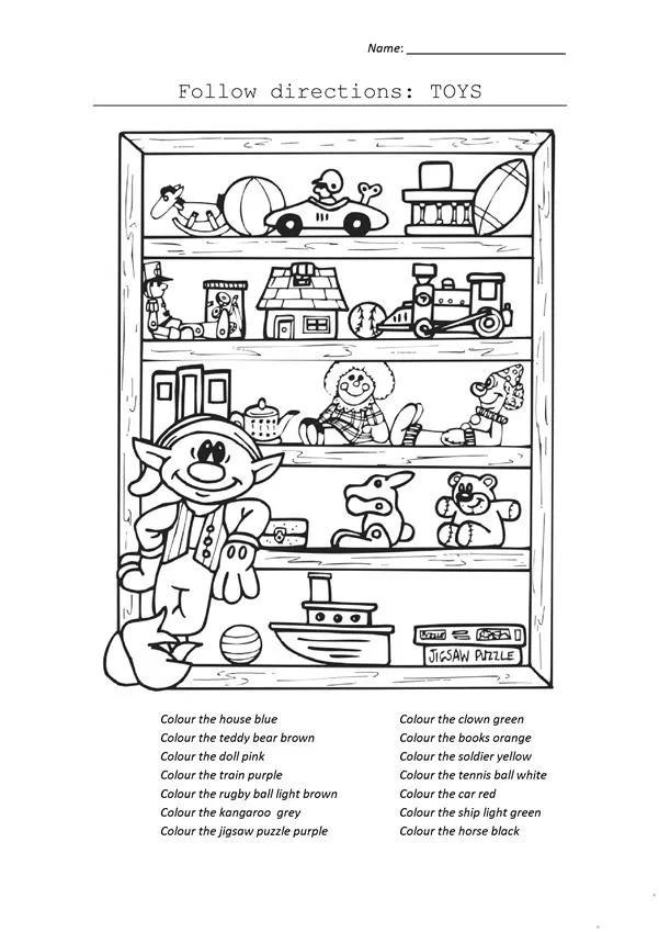 20 Atividades de Inglês sobre Brinquedos Toys para