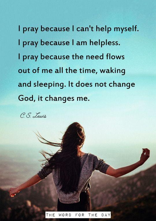 prayer c s lewis quotes christian quotes girl praying words pray