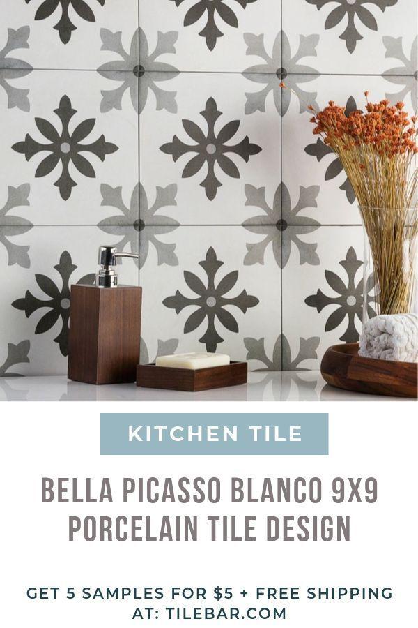 9x9 Room Design: Bella Picasso Blanco 9x9 Porcelain Tile