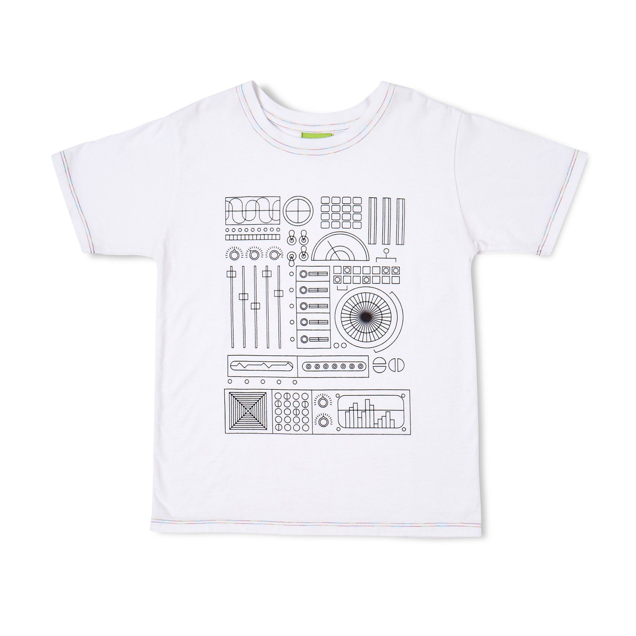 1c5ff0577ffe Circuit Board Coloring Page T-shirt