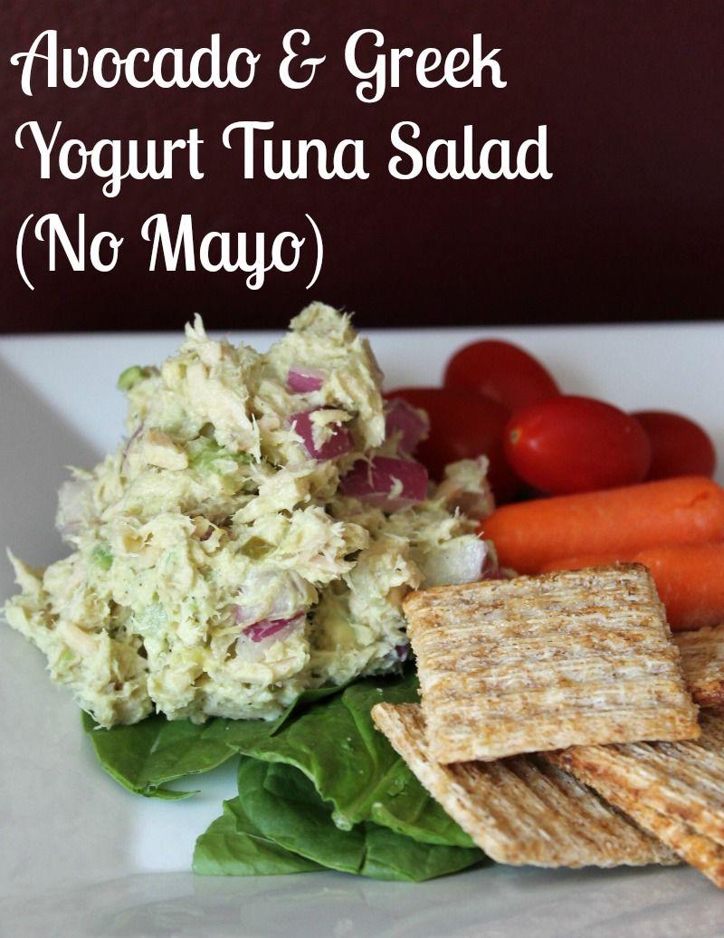 Avocado and greek yogurt tuna salad recipe no mayonnaise for Recipes for tuna fish