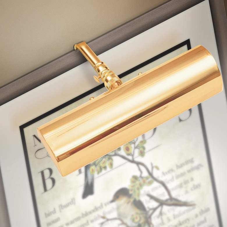 Slimline 8 Wide Polished Brass Cordless Led Picture Light 7c747 Lamps Plus Polished Brass Pole Lamps Lamp Design