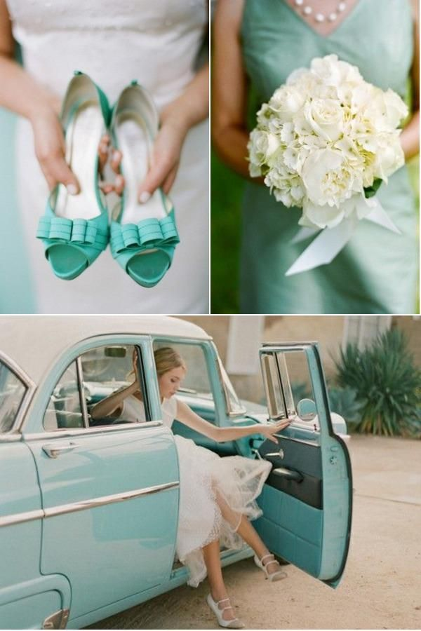 Love mint - that's why it's one of the hottest wedding trends for 2013 {{love the shoes!!}}