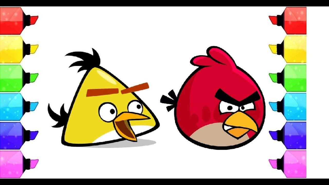 Learning Colors Coloring Angry Birds lAngry Birds Coloring Pages for ...