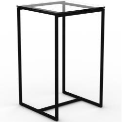 Beistelltisch Rauchglas klar - Eleganter Nachttisch: Hochwertige Materialien, einzigartiges Design