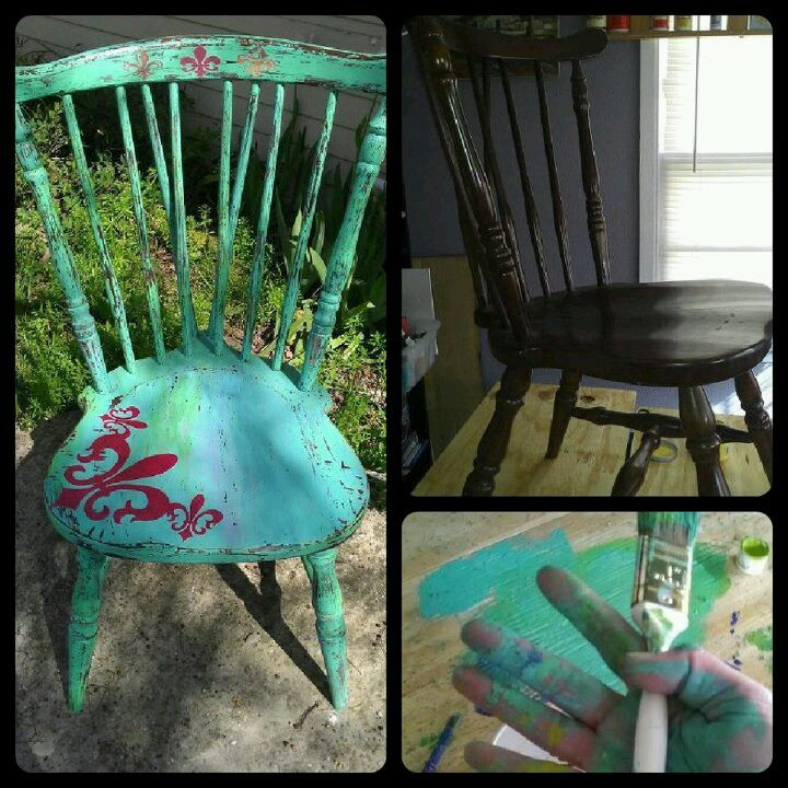 Chair makeover.  : )