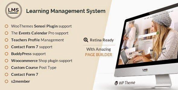 LMS v1.8 Responsive Learning Management System Blogger Template ...