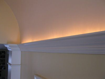 Adding Led Rope Lighting Behind Crown Molding To Add A Nice Glow Even Better On Dimmer