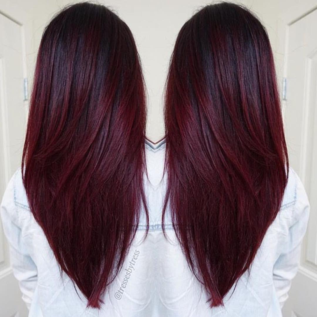Mermaid Unicorn Hairstyles on Instagram ucCherry Wine Hair by