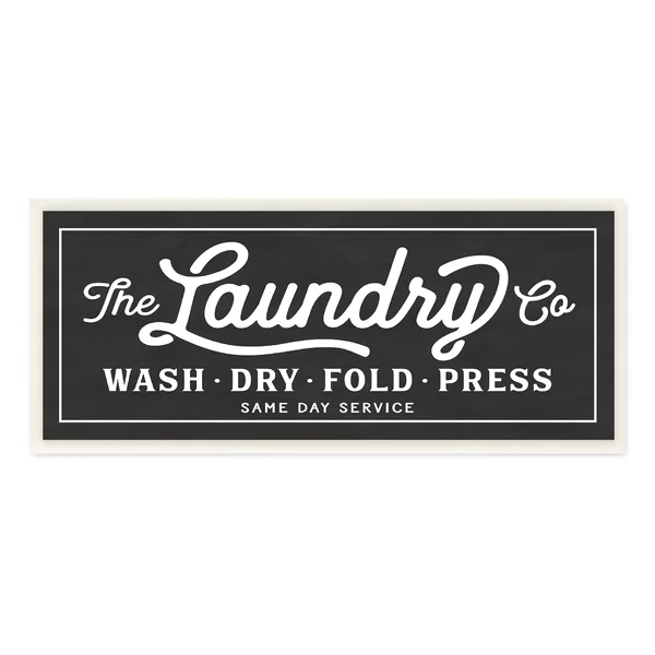 'Vintage Laundry Sign' Textual Art on Wrapped Canvas