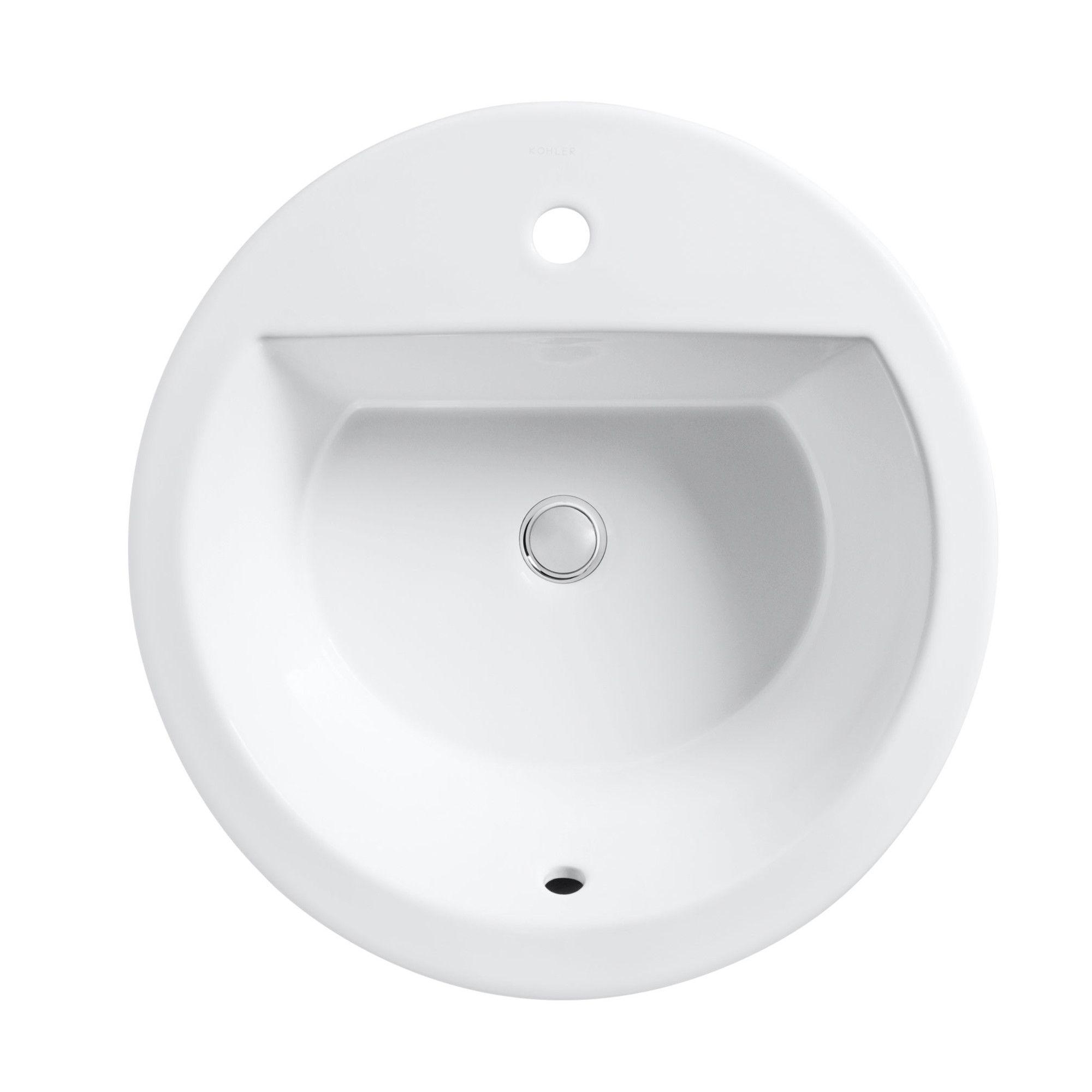 Bryant Ceramic Circular Drop In Bathroom Sink With Overflow Drop