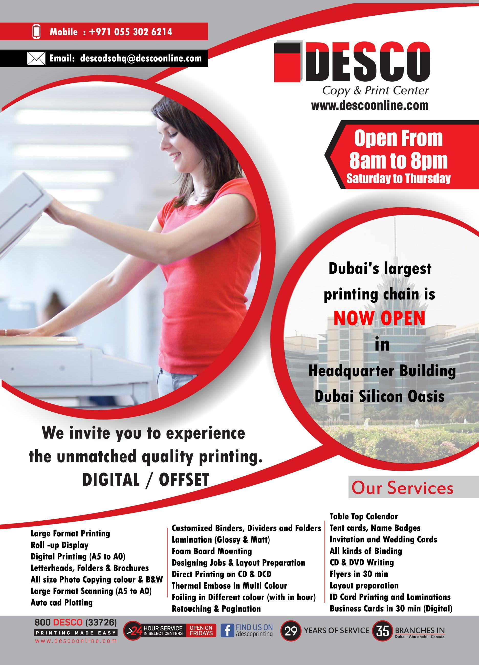 Printing Press in Dubai Silicon Oasis HQ - Printing in DSO HQ