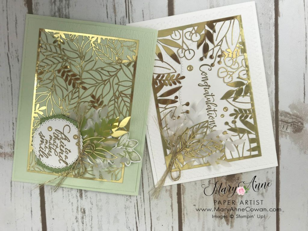 Forever Gold Specialty Paper Maryannecowan Com Mary Anne Cowan Stampin Up Demonstrator Gold Foil Cards Specialty Paper Cards