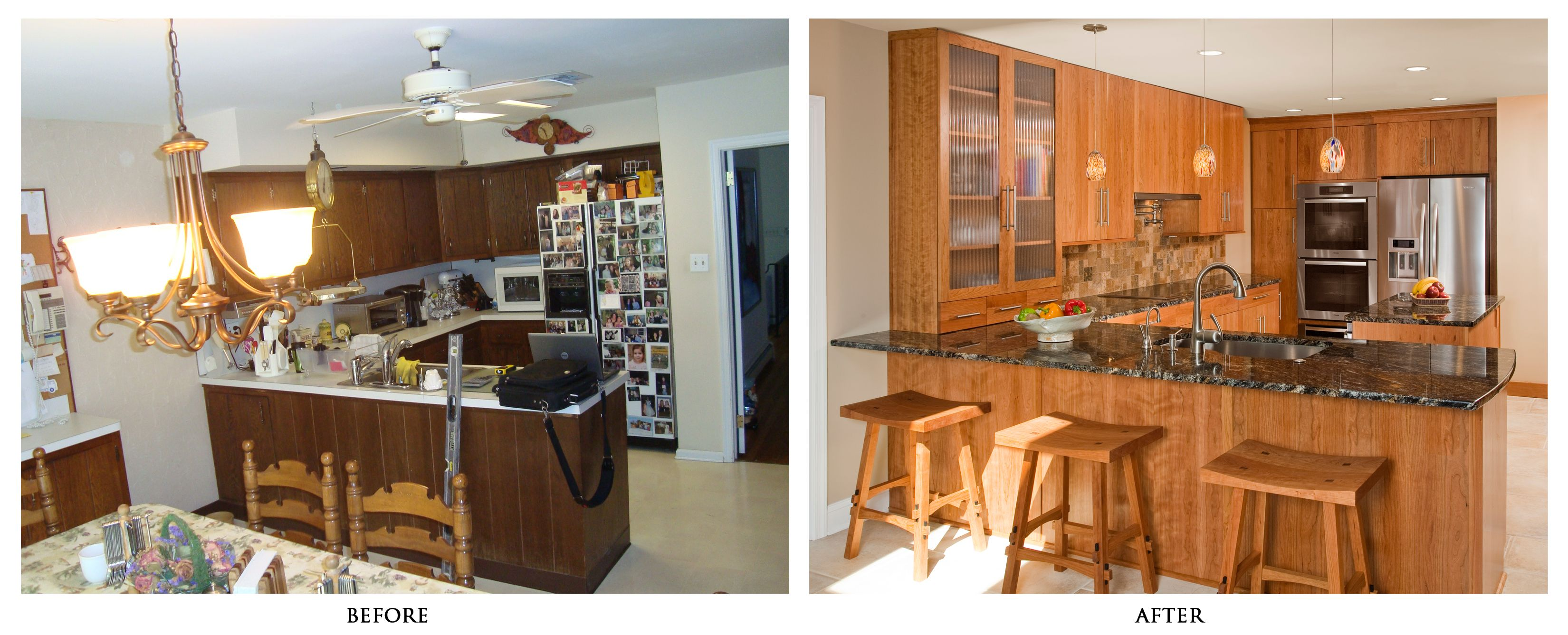 superb Remodelled Kitchens Before And After #4: Amazing Before Amp After Kitchen Remodel The Creativity Exchange - Kitchen  before and after