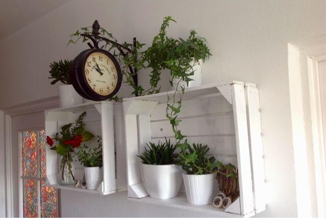Polki Ze Skrzynek Na Owoce Plant Stand Decor Home Decor