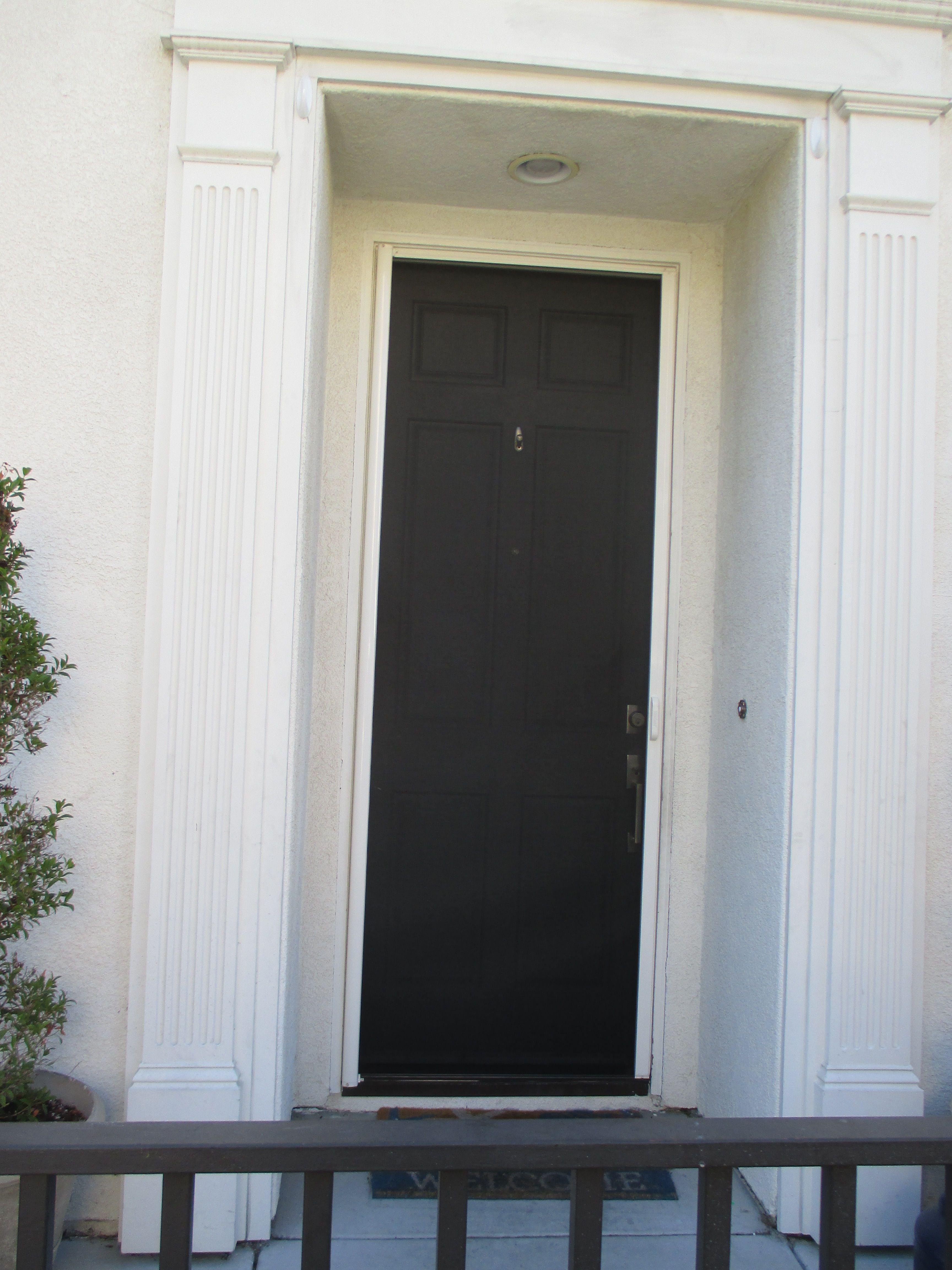 1 Front Door Stowaway Retractable Screen In Irvine California