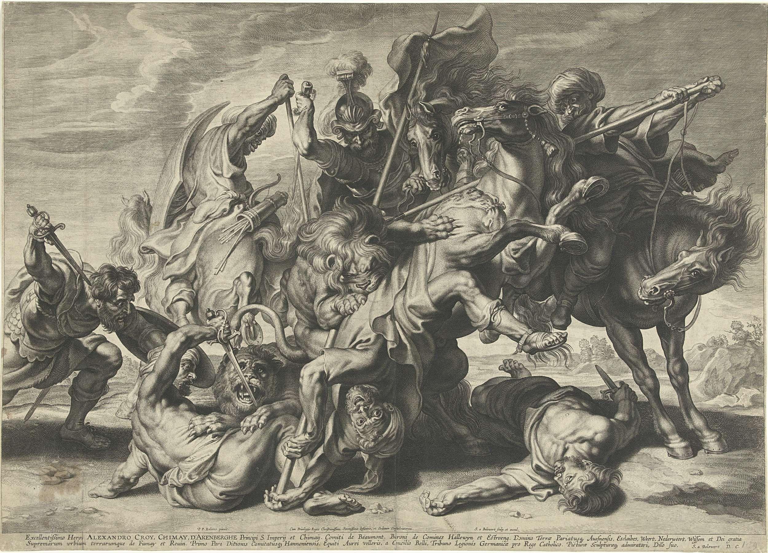 Leeuwenjacht, Schelte Adamsz. Bolswert, 1634 - 1659