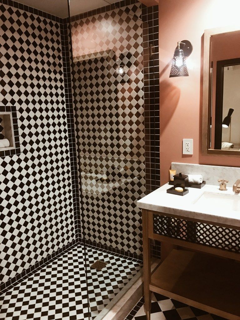 Palm Springs Valentine S Staycation Luxury Tile Shower Bathroom