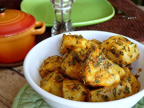 Mint and Parsley Dressing for Steamed Potatoes