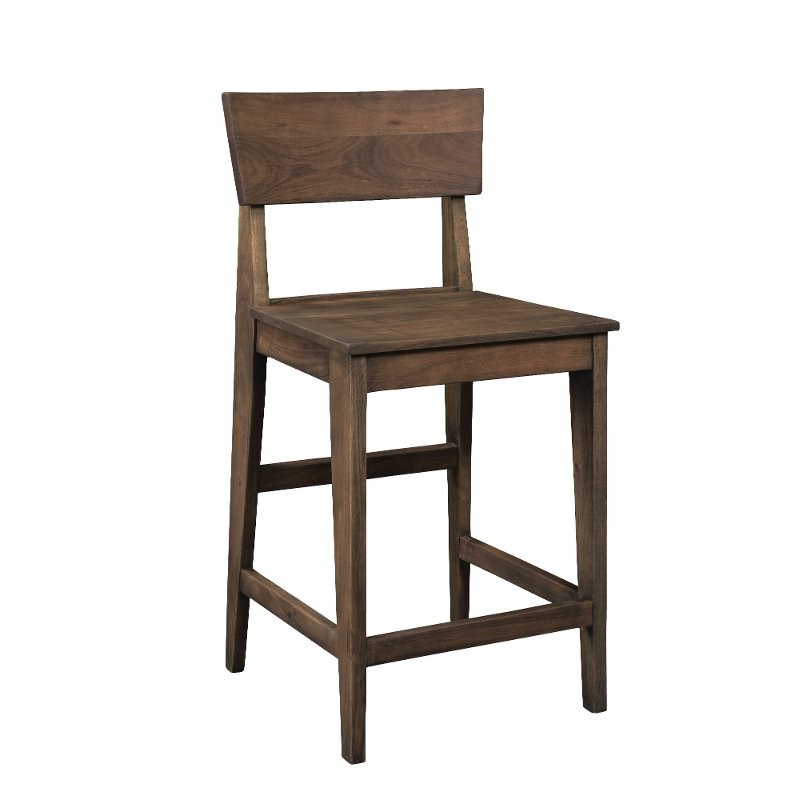 Transitional Brown 24 Inch Counter Height Stool Jadu Counter