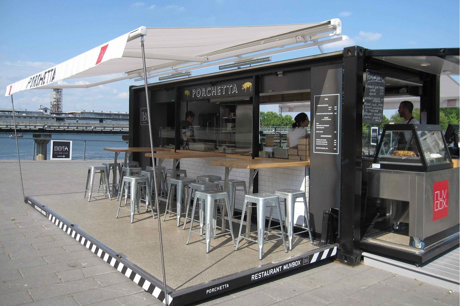Exhibition Stand Ideas Uk : Container coffee bar restaurant shipping