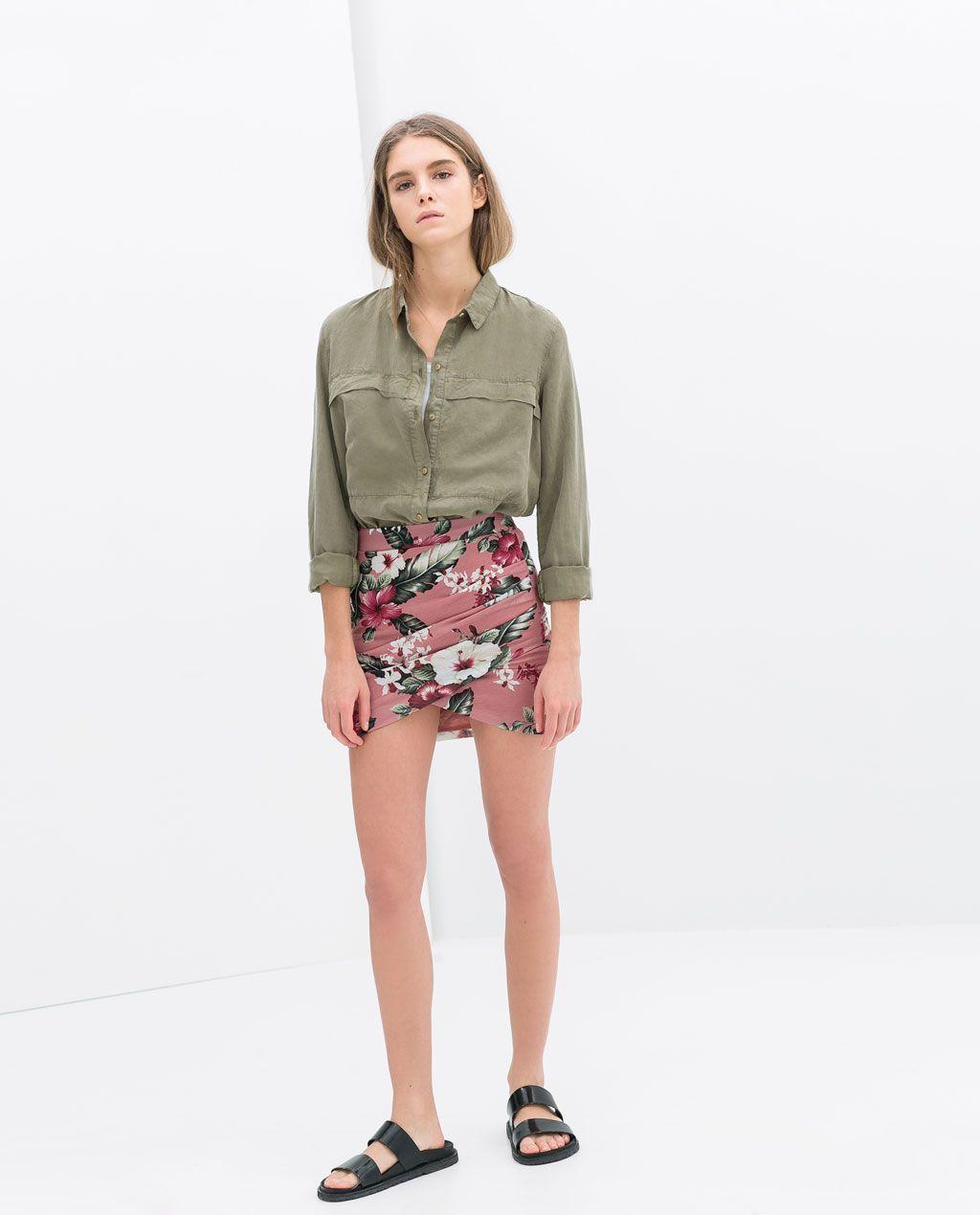 Jupe Drapee Jupes Trf Zara Belgique Draped Skirt Womens Skirt Skirts