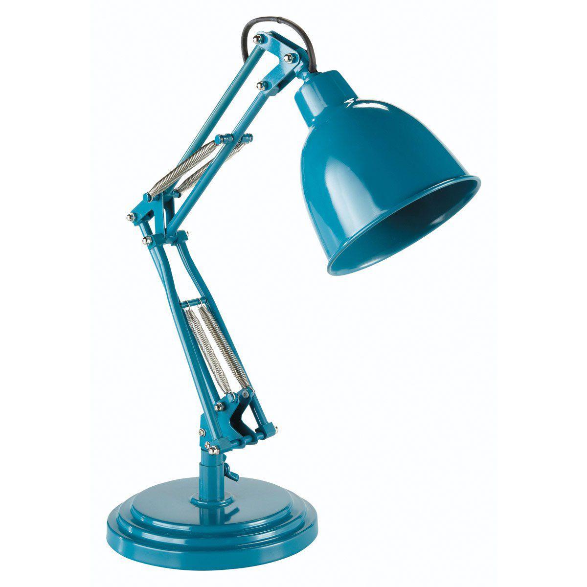 Lampe en métal bleu canard H 49 cm PATERSON   Chambres   Pinterest ...