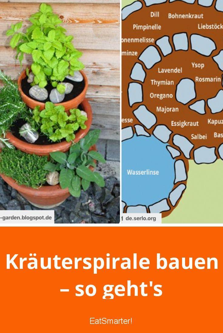 Kräuterspirale bauen – so geht's #kräutergartendesign