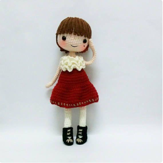 Crochet doll pattern / Amigurumi doll pattern PETUNIA | bebekler ...