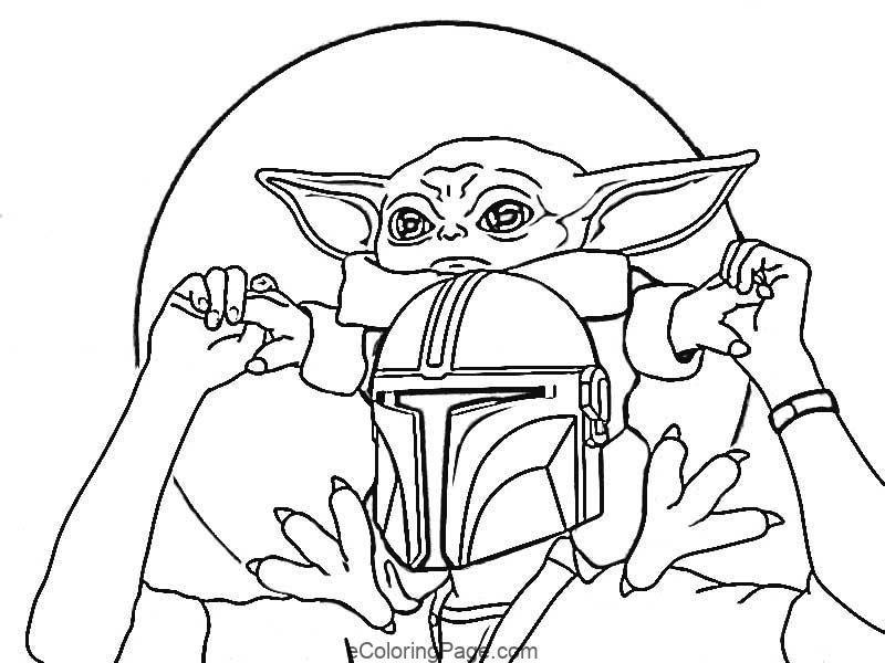Baby Yoda Coloring Page Printable In 2020 Star Wars Coloring Sheet Coloring Pages Yoda Drawing