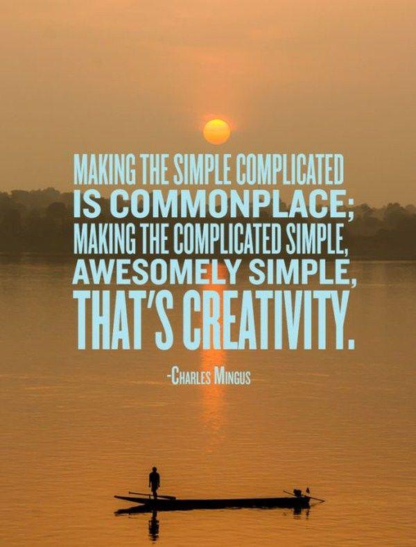 Creativity, inspired