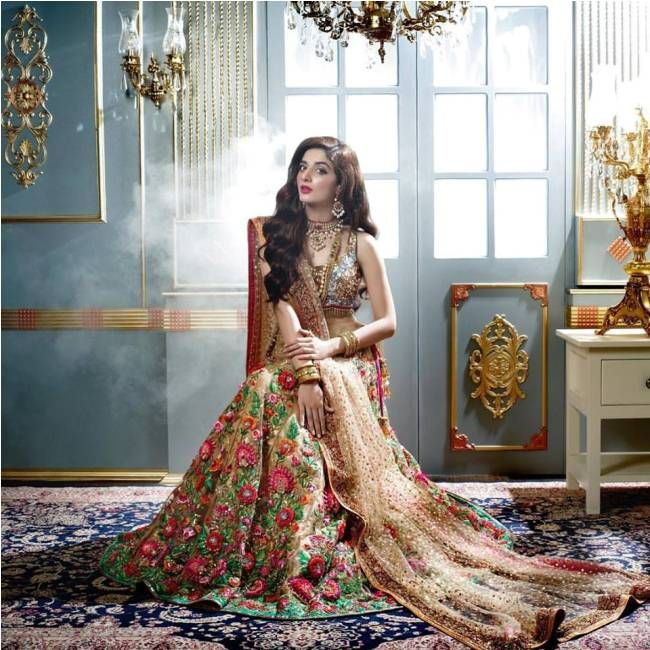 d2e62ab2a3e Latest Bridal Walima Dresses 2018 In Pakistan. Presenting Best Nomi Ansari Spring  Collection 2017 2018 To You