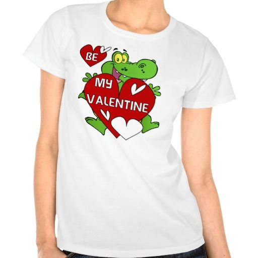 Crocodile Be My Valentine Shirts