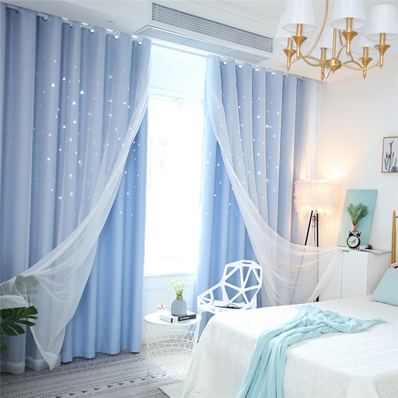 Fresh Max Blackout Curtain Hollow Star Curtain With Sheer Curtain Kids Room Curtain One Panel Kids Room Curtains Kids Curtains Curtains