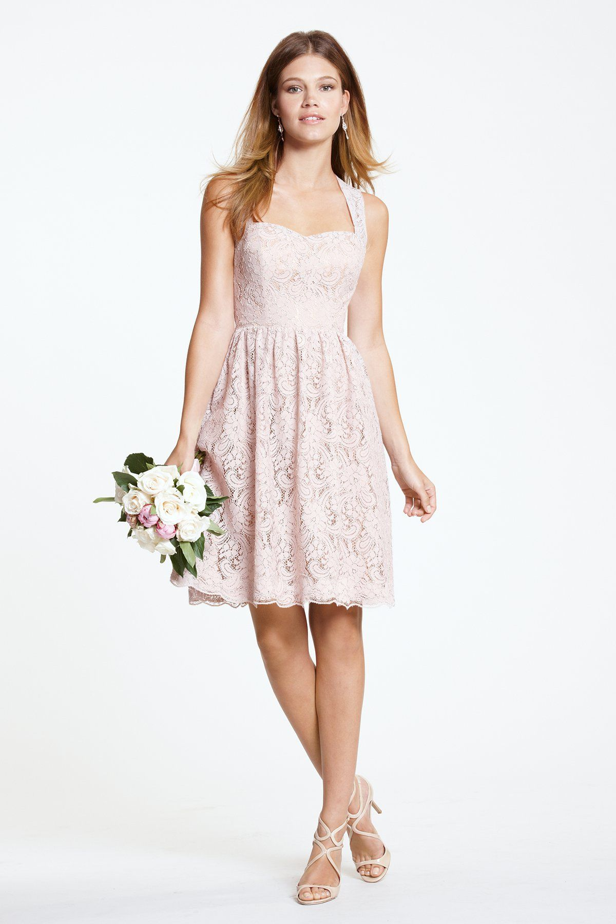 Watters Dress Sisley Style 5228 w/ CORAL LACE & IVORY LINING ...