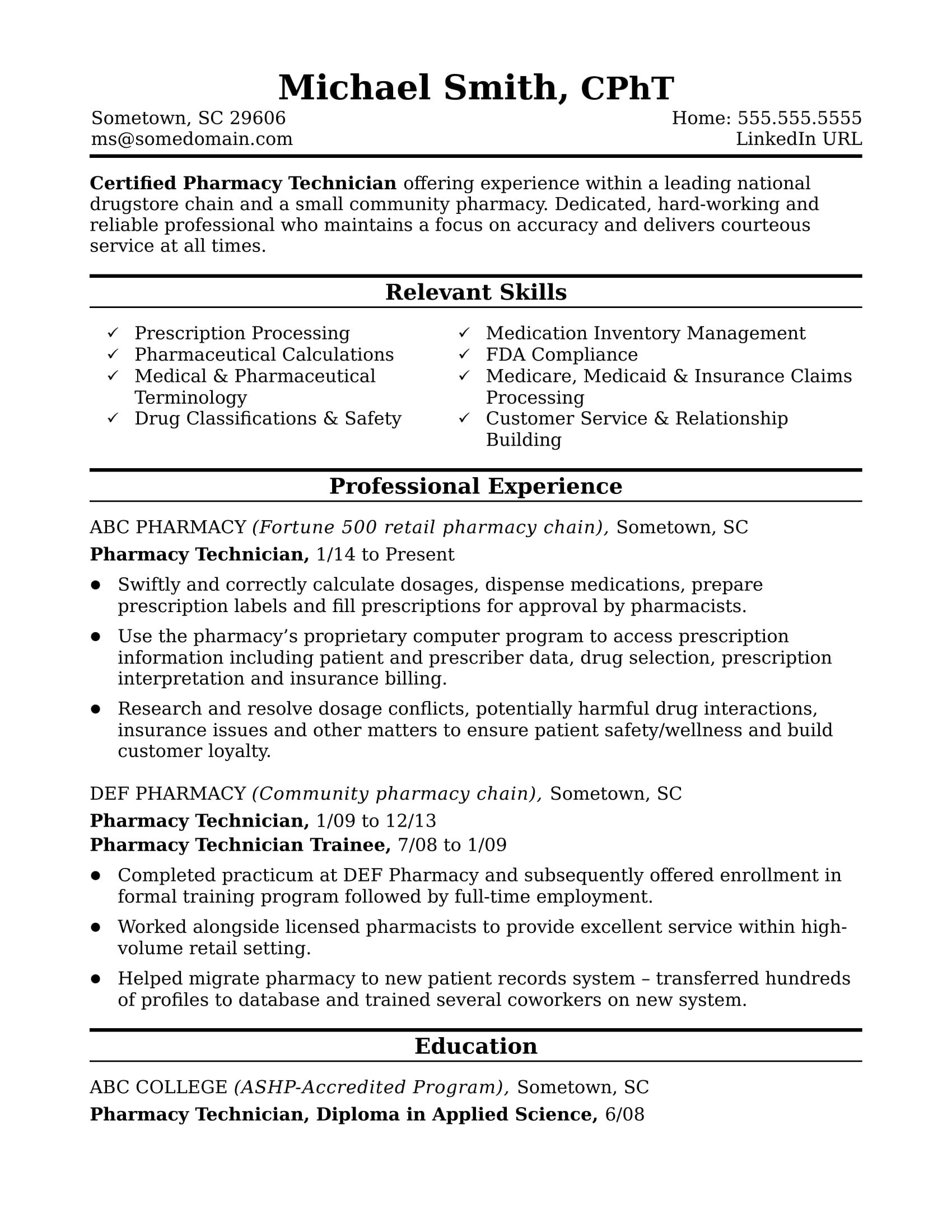 Resume Examples Pharmacist Engineering Resume Good Resume