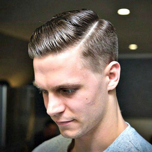 Cool Modern Hard Side Part With Short Sides Mens Hairstyles Haircuts For Men Classic Mens Haircut