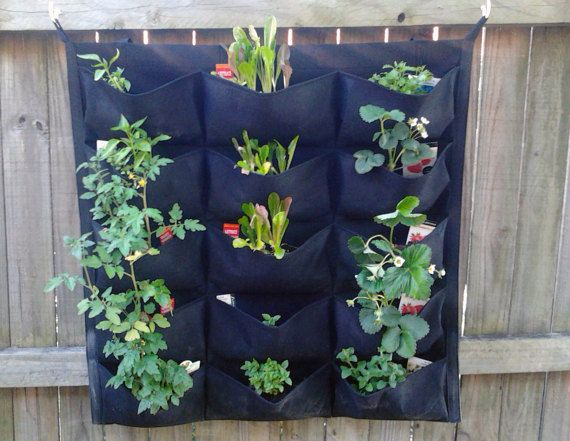 Green Vertical Garden Pocket Planters Easy Decorative Ecological And Green Vertical Garden Planters Vertical Garden Garden Wall Planter
