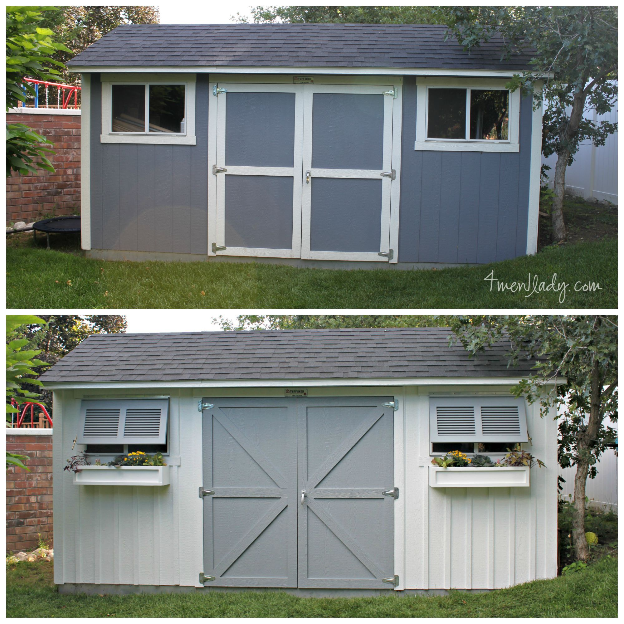 adorable tuff shed pictures. Tuff Shed  Makeover ACE Hardware Timerlane Shutters Bermuda Grow
