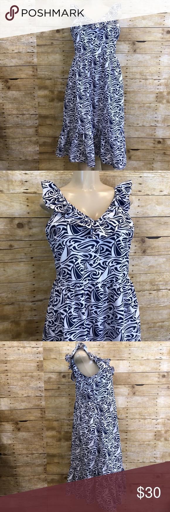 Vineyard Vines Rough Seas Midi Dress Xl Midi Dress Clothes Design Dresses [ 1740 x 580 Pixel ]